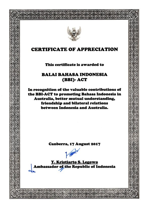 170817 BBI (ACT) Certificate of Appreciation
