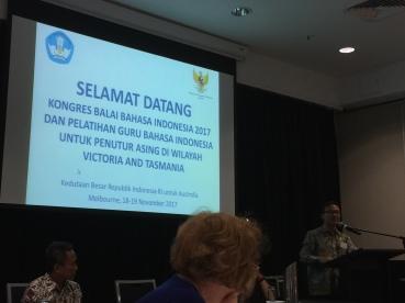 Pak Kris - the Ambasador opening the event